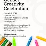 PAST: Gender Creativity Celebration – March 4, 2017
